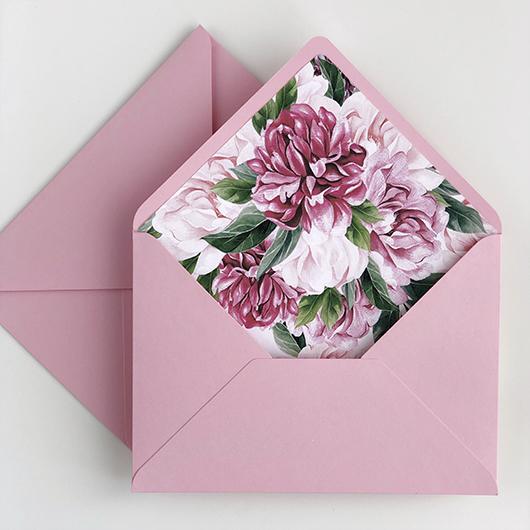 Открытка вкладыш в цветы