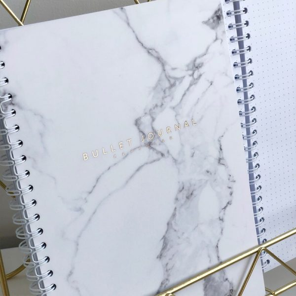 Блокнот Bullet Journal мрамор листы в точку